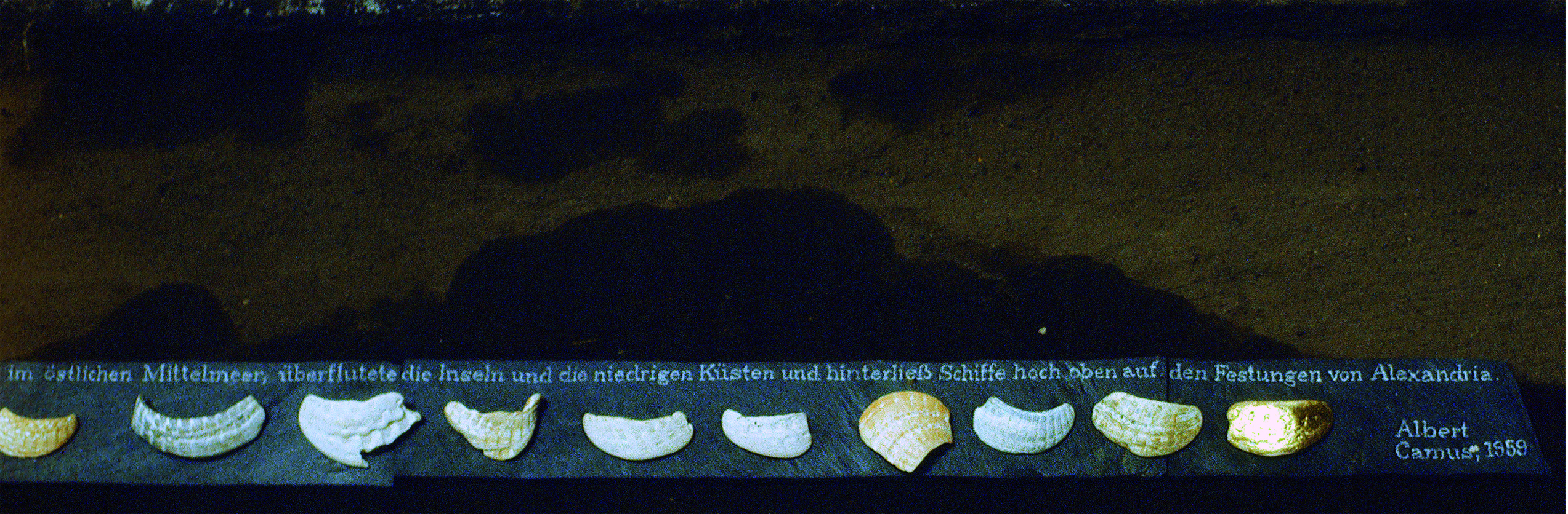 """""""Das Meer, eine Gottheit"""". Installation von Klaus Küster. Foto: Küster"""