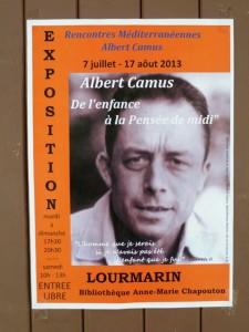 Plakat der Camus-Ausstellung in Lourmarin.