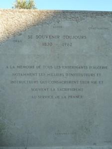 Gedenkstein Algerien