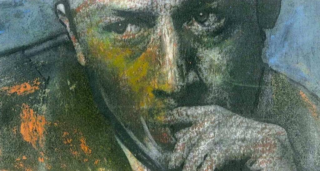 Camus-Portrait des in Wuppertal lebenden Künstlers  Maurycy.