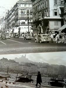 Postkartenansichten aus dem Marseille der 1950er Jahre. Foto: akr