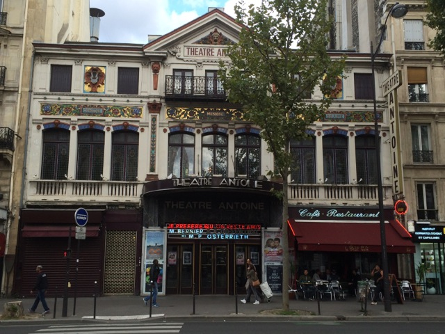Das Théâtre Antoine am Boulevard Strasbourgh. ©Foto: Anne-Kathrin Reif