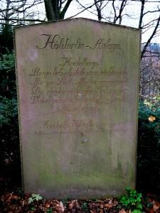 Hölderlin-Gedenkstein auf dem Heidelberger Philosophenweg. ©Foto: Anne-Kathrin Reif