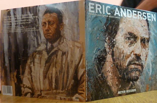 Eric Andersens vier Camus-Songs gibt es auch als Vinyl-Scheibe - natürlich mit einem Cover von Oliver Jordan. ©Foto: Anne-Kathrin Reif