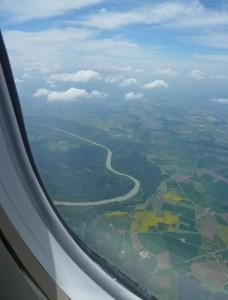 Nicht Paris-Algier sondern Düsseldorf-Salzburg. Aber auch ein Blick von ganz weit oben. ©Foto: Meike Nordmeyer