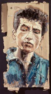 Der junge Bob Dylan – Porträt von Oliver Jordan. ©Oliver Jordan